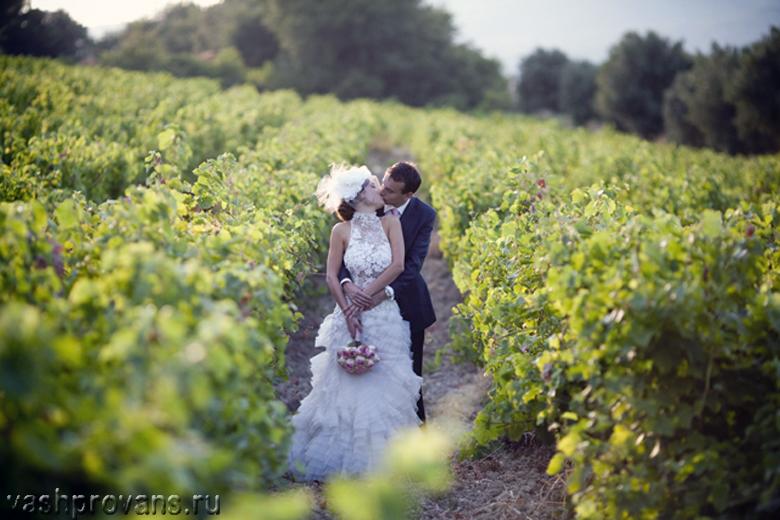 свадьба, виноградник