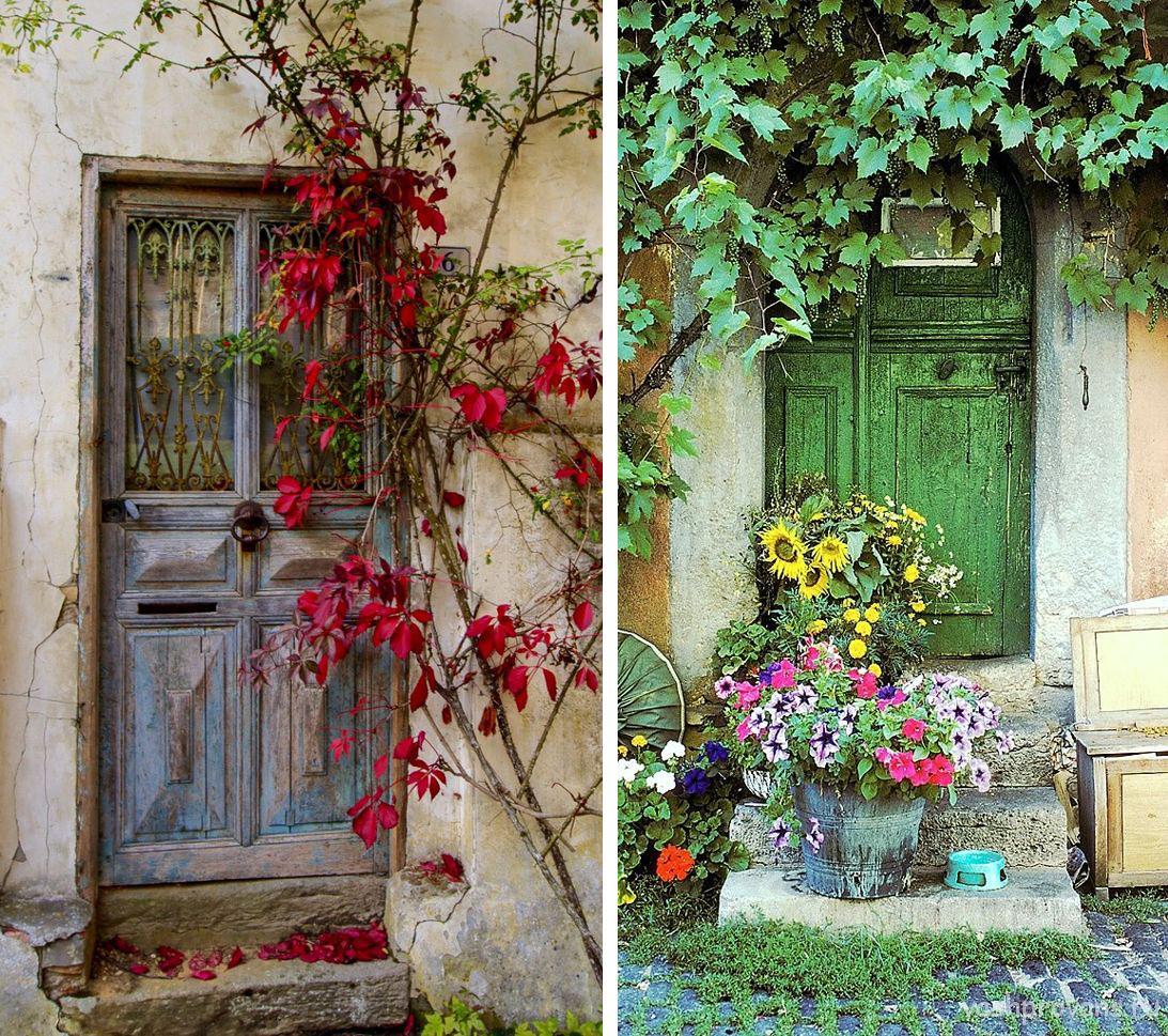 dveri-vintazh-sinyaya-zelenaya