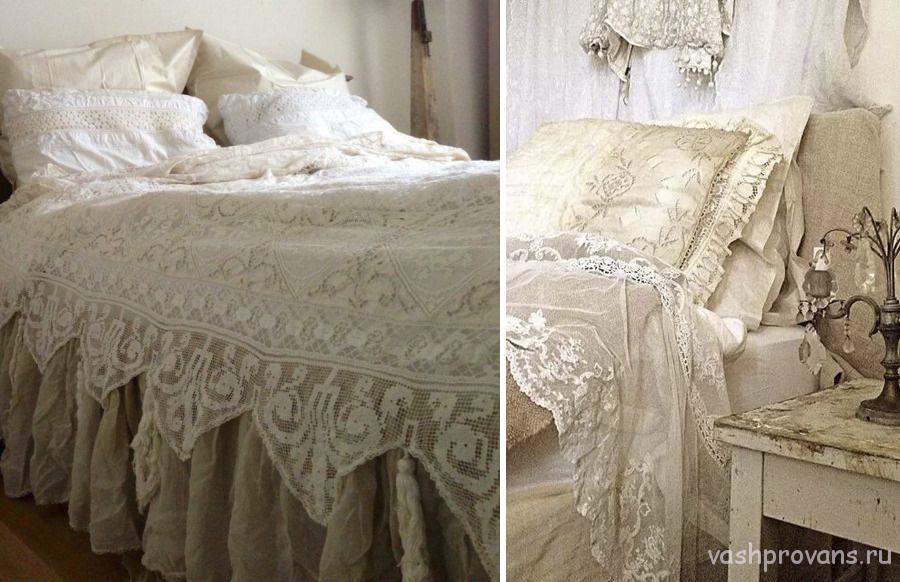 Одеяла и постельное белье в стиле